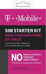 This was the T-Mobile pre-paid SIM I purchased. Obviously the packaging may change in the future.